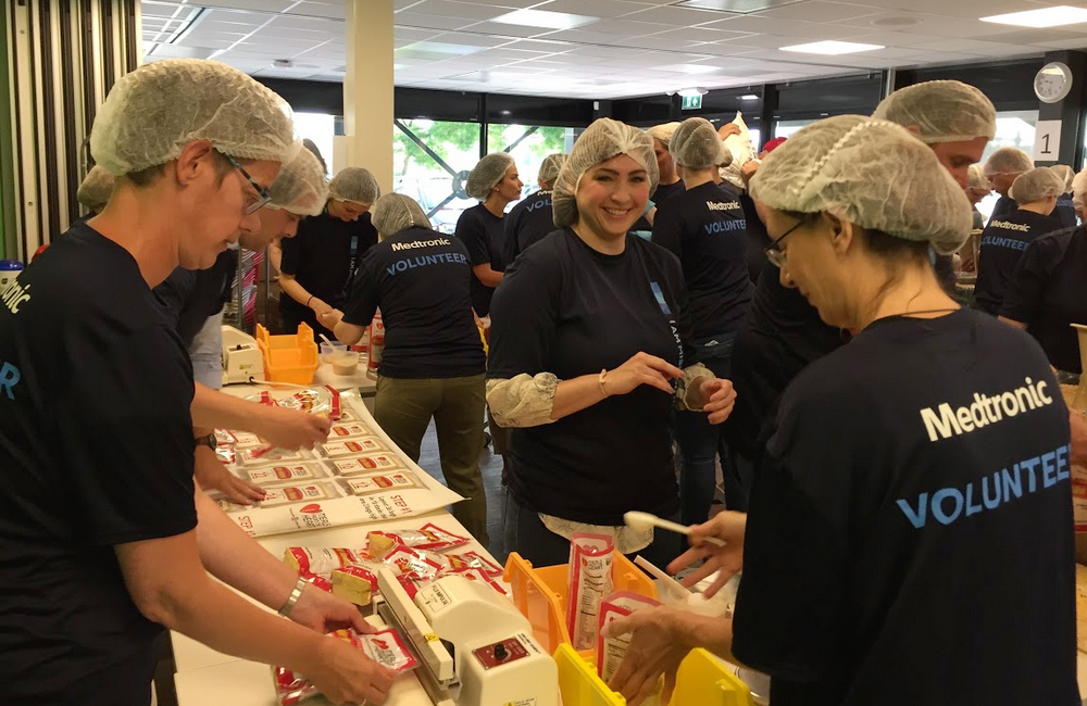 Having fun meal packing in the Netherlands