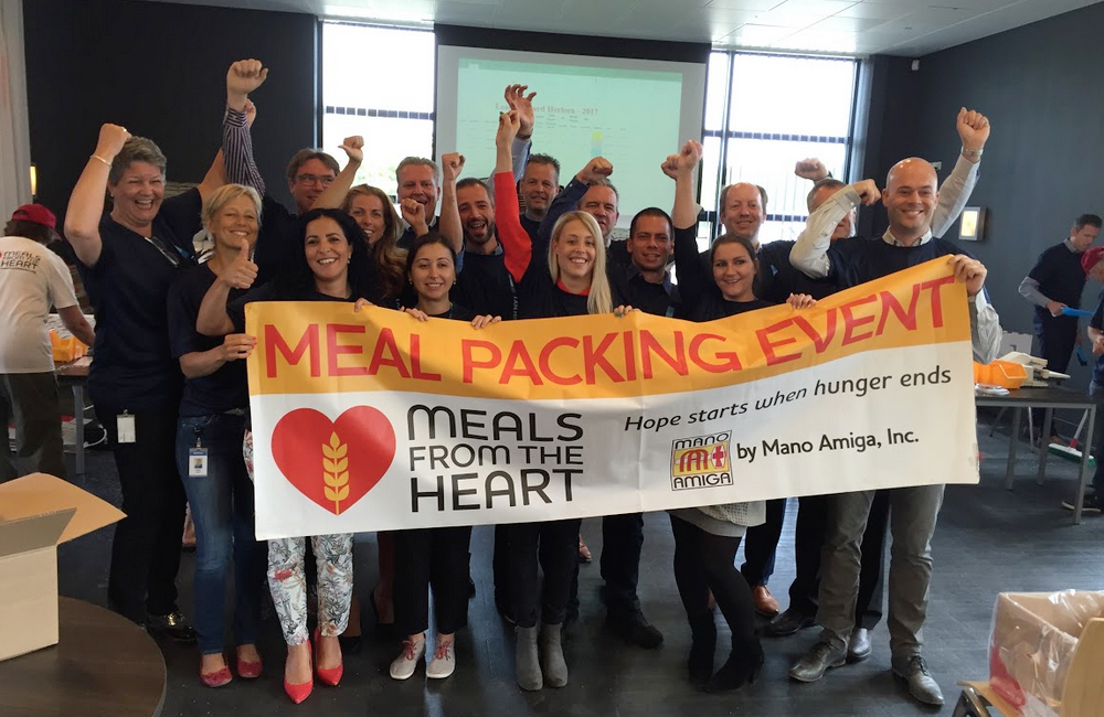 Netherlands meal-packing team