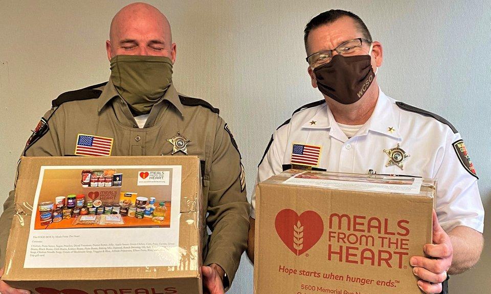 Local Law Enforcement + Food Boxes = Big Smiles!