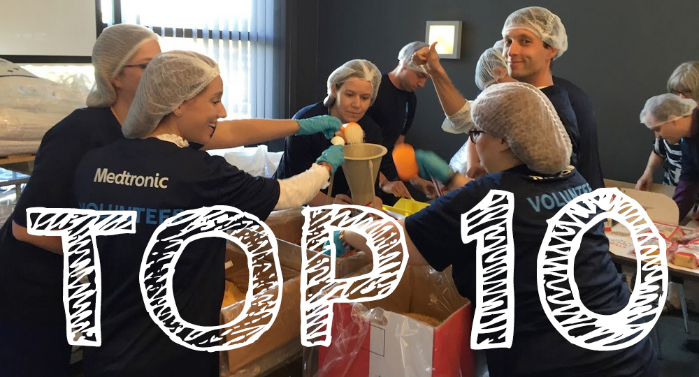 Top Ten Reasons To Host  A Meals From The Heart Meal Packing Event At Your Organization.