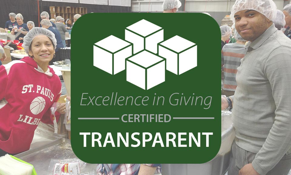 Excellence In Giving has named Meals From The Heart as a CERTIFIED TRANSPARENT organization.